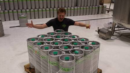 Kegs of Divide & Conch'r Ready for Distribution (image courtesy of Idyll Hounds)