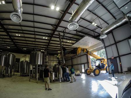 Building the beautiful new brewery (image courtesy of Idyll Hounds)