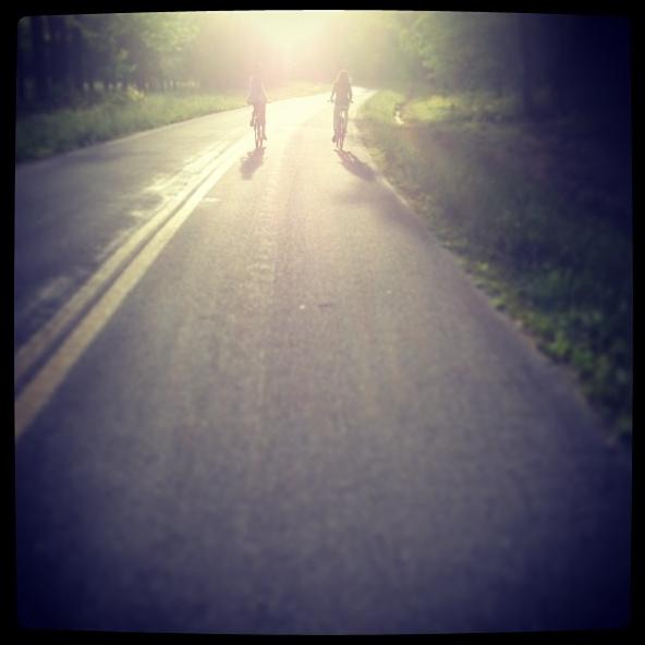 biking to the Oxford ferry