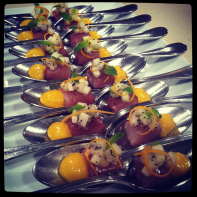 amuse bouche | tuna with mango