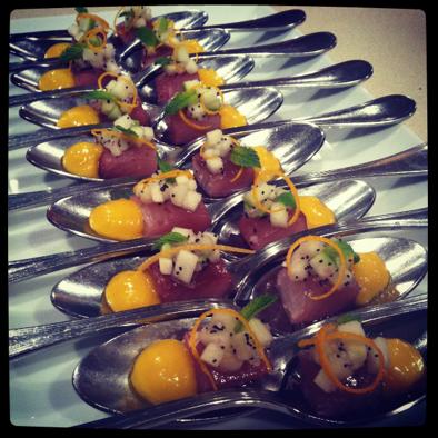 amuse bouche | tuna with mango