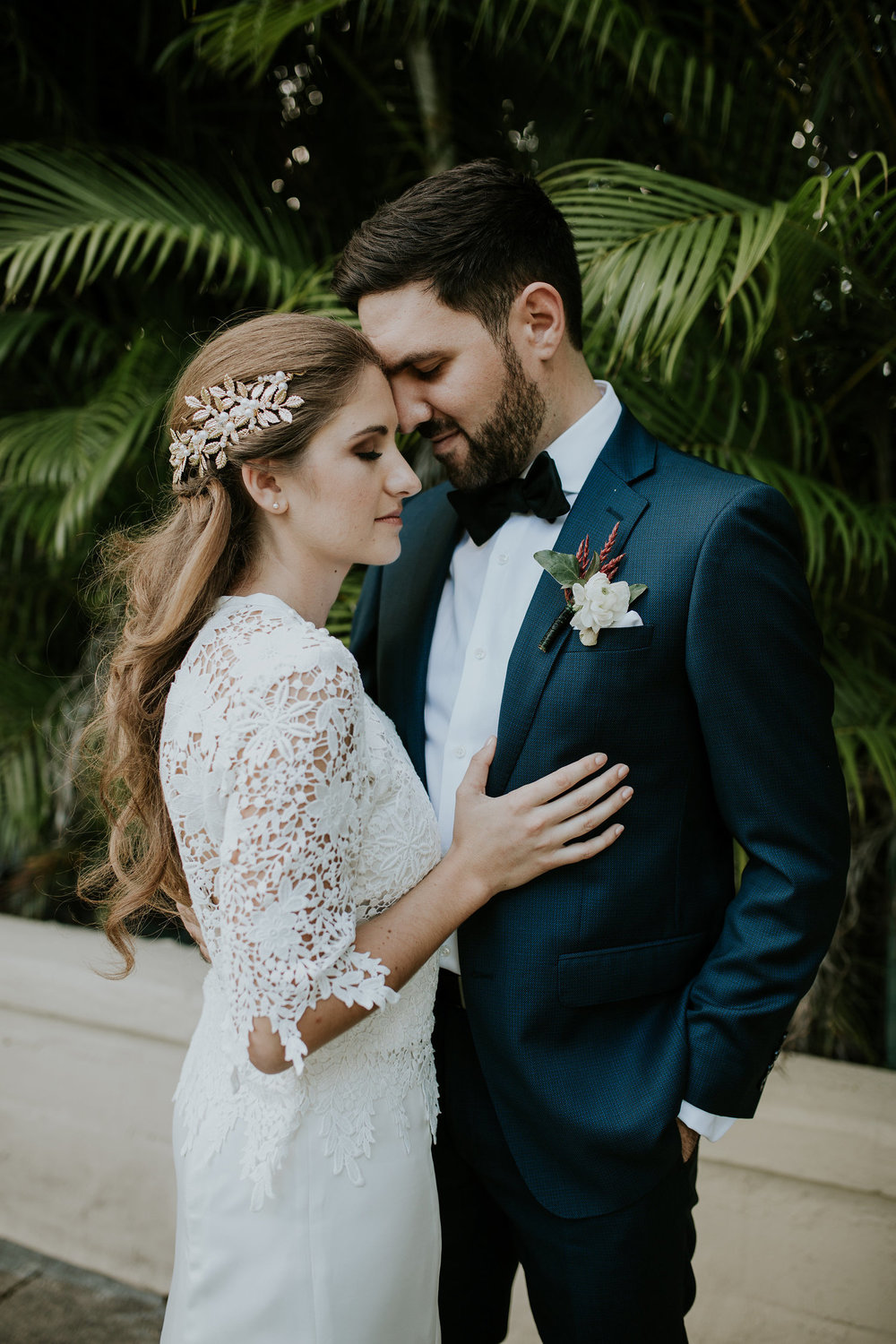 Photography by Lauren Louise Photography https://laurenlouisephotography.com/    Melissa with her Beautiful Lace Blouse for her big day!