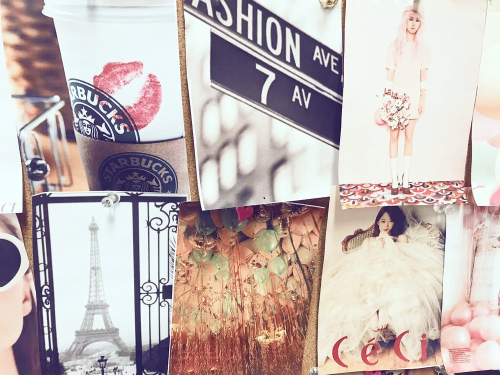 WE START WITH A MOOD BOARD FOR YOUR DRESS - THIS IS SO WE CAN VISUALLY COMMUNICATE YOUR LIKES AND DISLIES