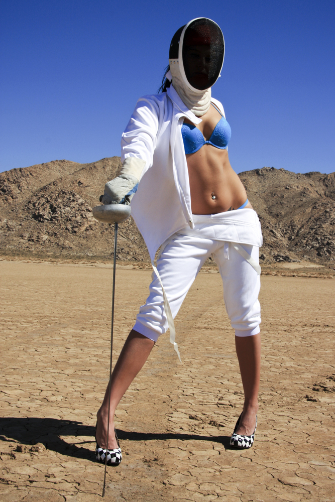 Fencer in the desert
