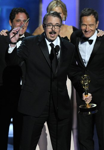 Vince Gilligan Accepting an Emmy Award