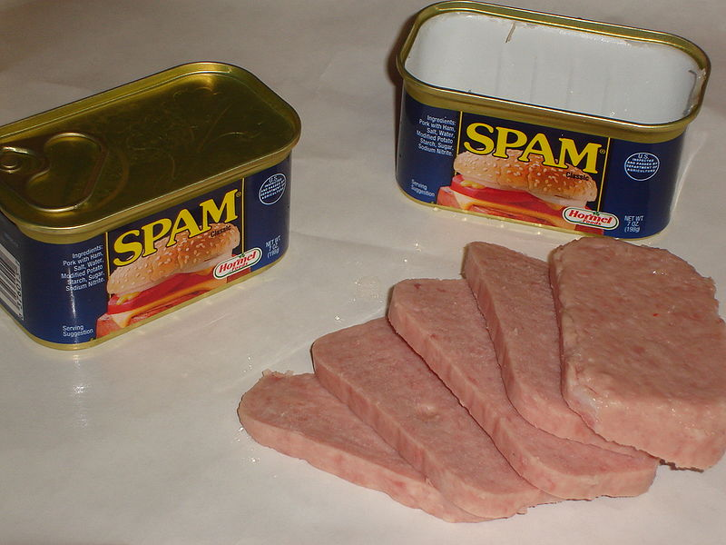 What was a camping trip without Spam?