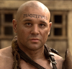 "The tattoo on this fugitive slave's forehead should have been spelled ""FVGITIVVS"""