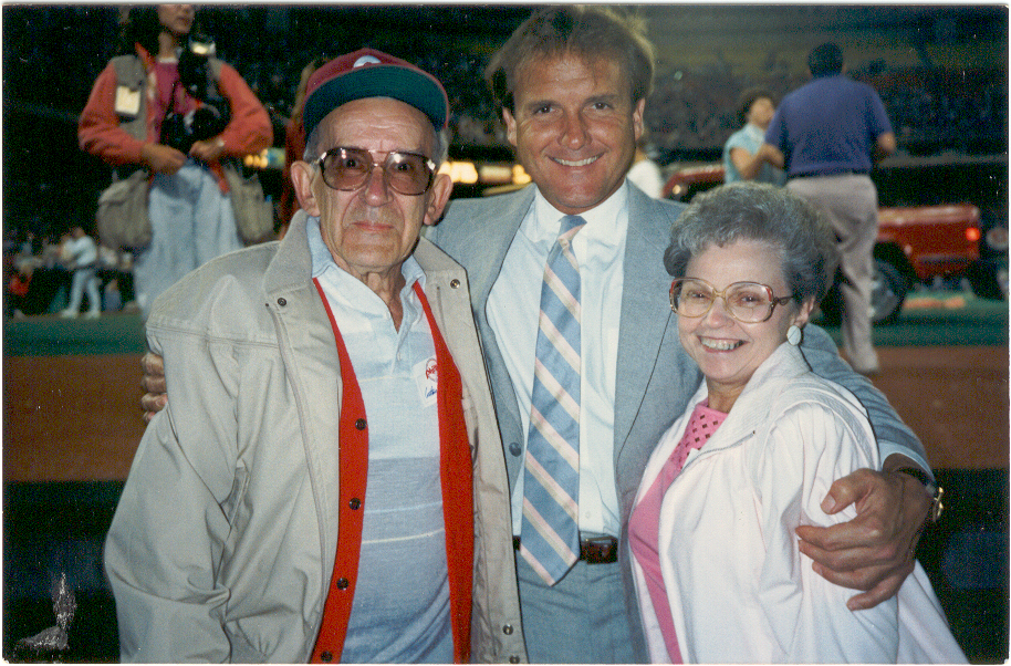 Tug McGraw with his arms around my parents. Probably the biggest thrill of a very thrilling evening.