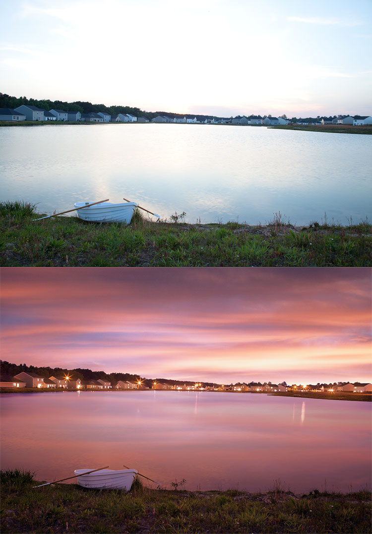 Lake Shore, before and after