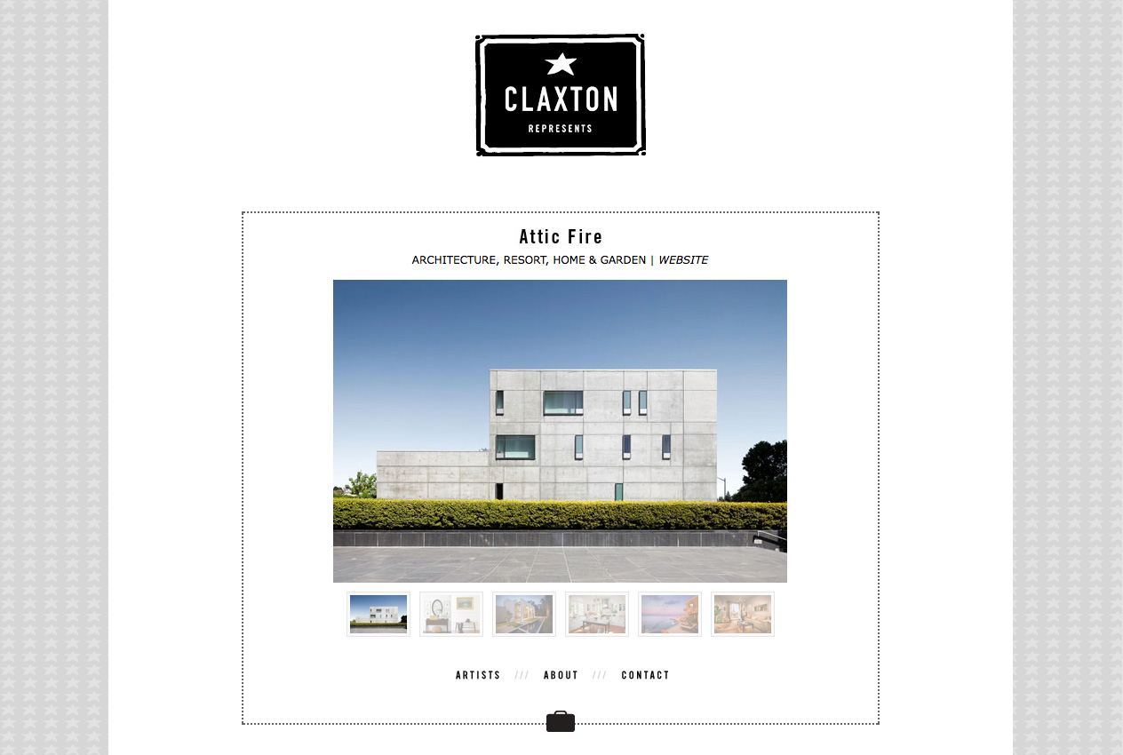 Attic Fire's page on Claxton Represents