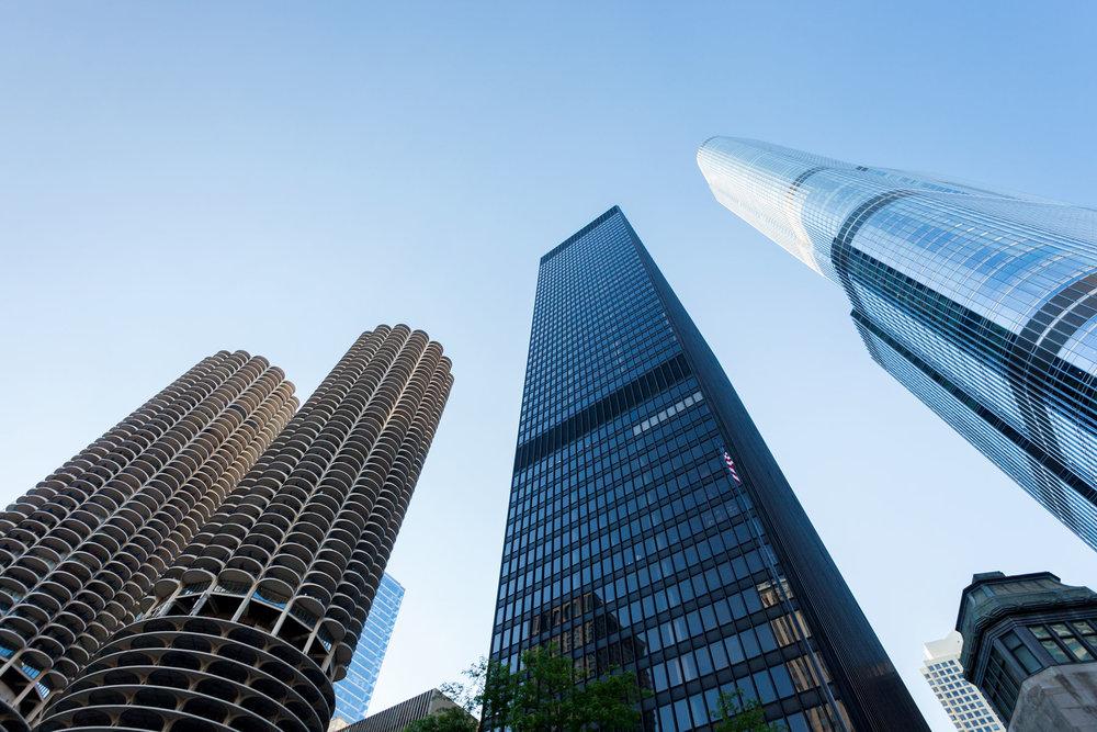 Marina Towers + The Langham + Trump International  Chicago IL