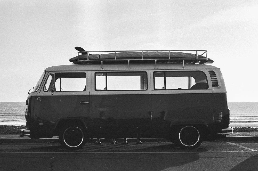 VW, Nantasket Beach, 35mm film