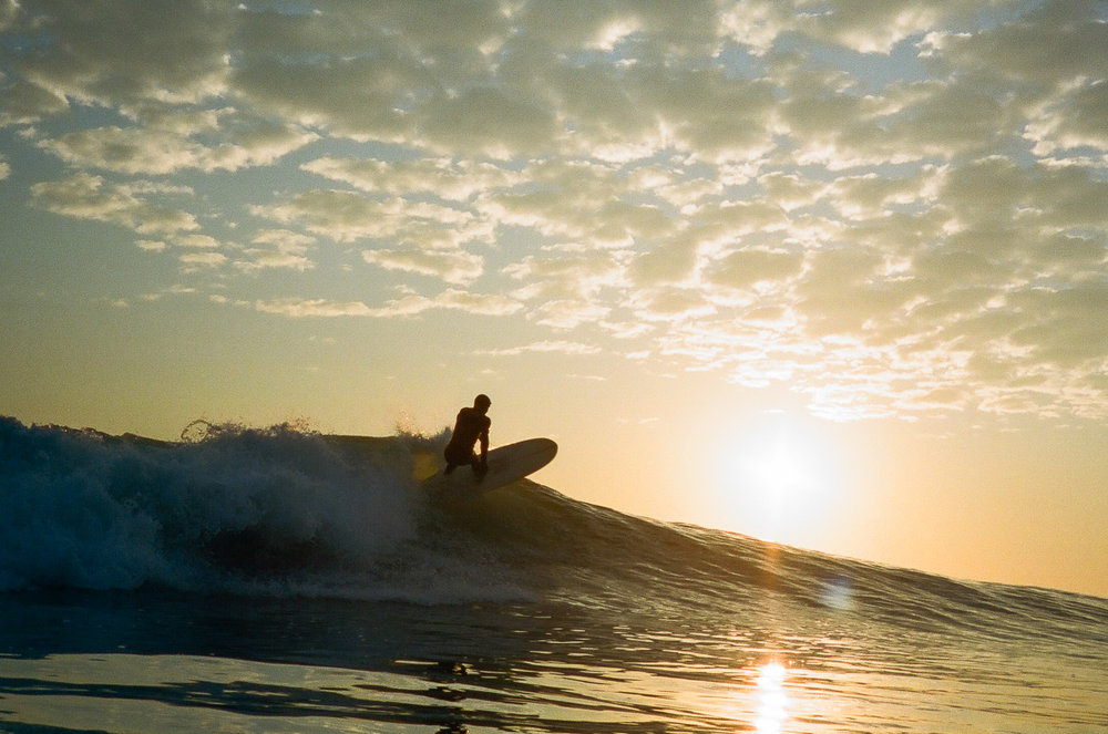 Surfer CJ Congrove  February 2017  Hull, MA  Nikon 35mm SLR  Kodak color film