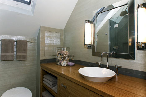 Custom Guest Bathroom at Ashbury Heights Home