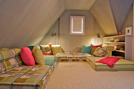Attic Party room in Cow Hollow San Francisco