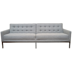 Steelcase sofa upholstered in heathered wool