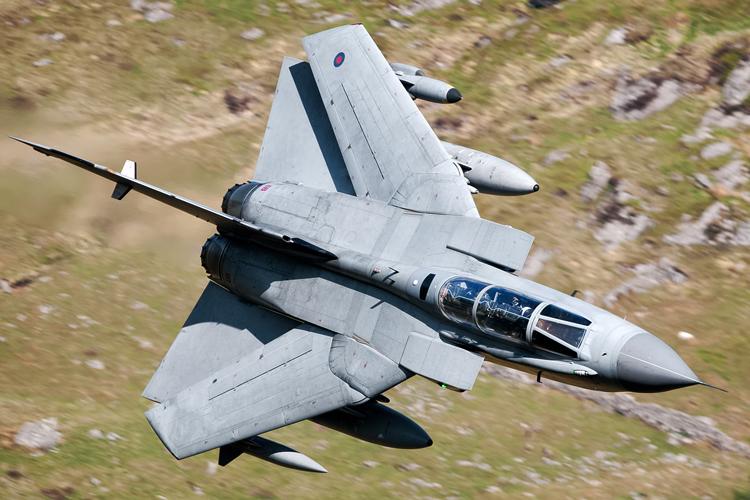 67º wing swept Tornado GR4 from RAF Marham.