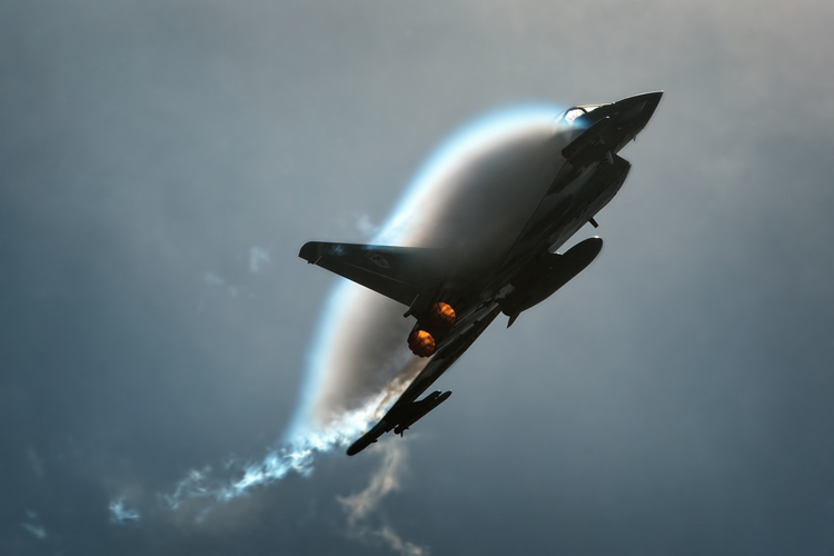 Jamie Norris puts the Eurofighter Typhoon through its paces producing a massive amount of fluff/spluff.
