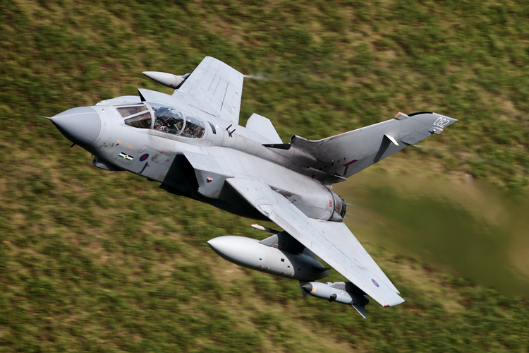 63º swept Tornado GR4 wearing 12(B) Squadron markings.