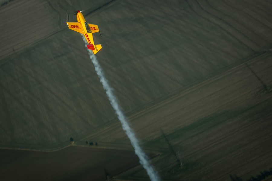 Adrian performs high energy aerobatics above Cambridgeshire.