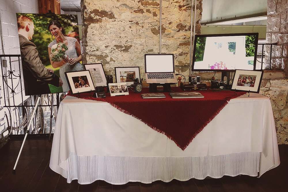 My table as put together for the Wedding Expo.