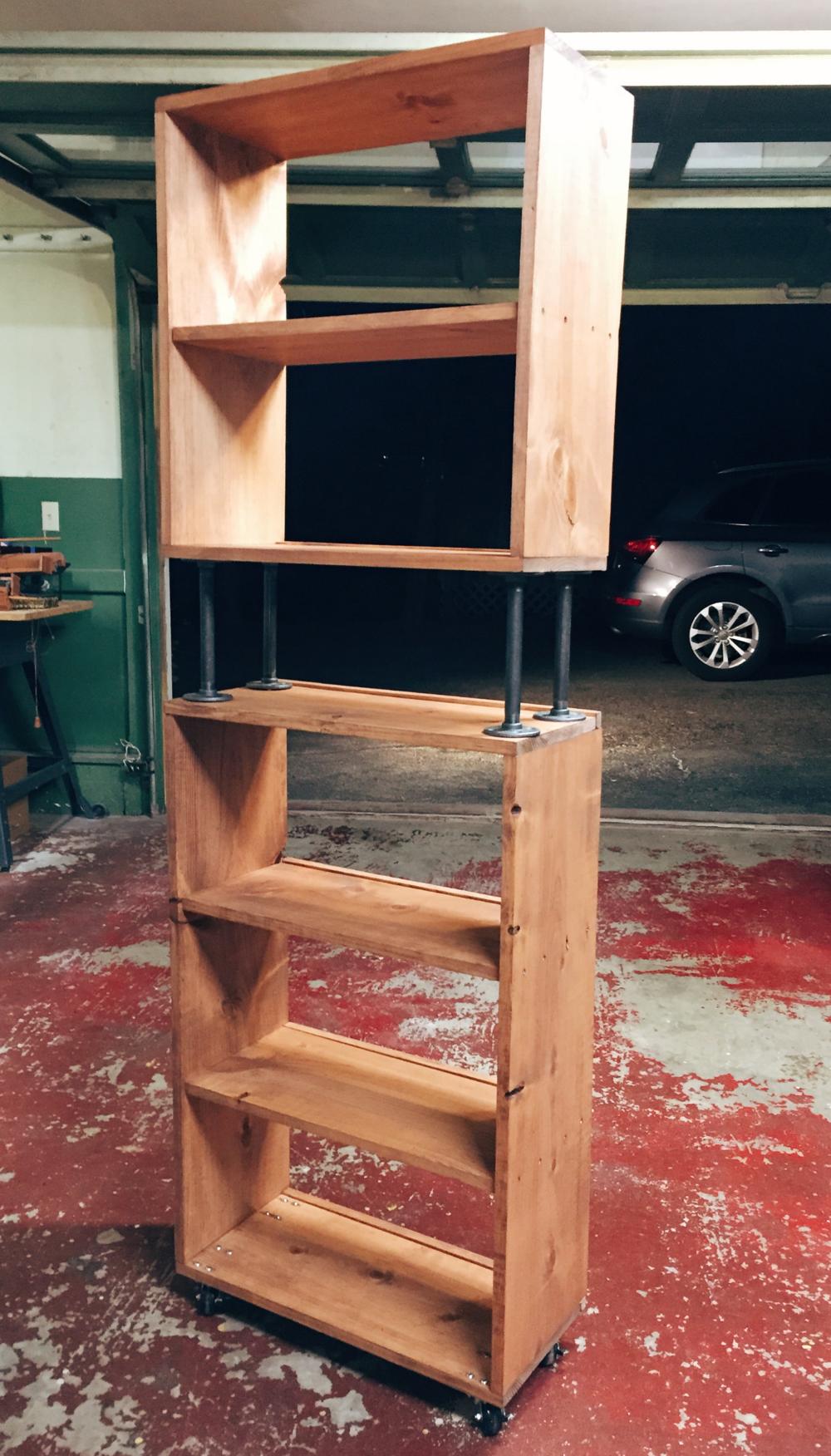 convertible bookshelf that I designed &built