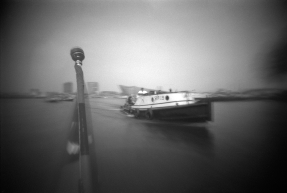 The boat following ours | Photax hacked pinhole | Jesús Joglar