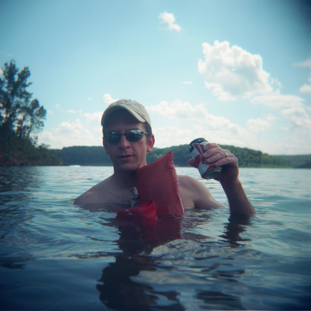 Tommy With Beer | Holga | Kodak Ektar 100 | Brad Lechner