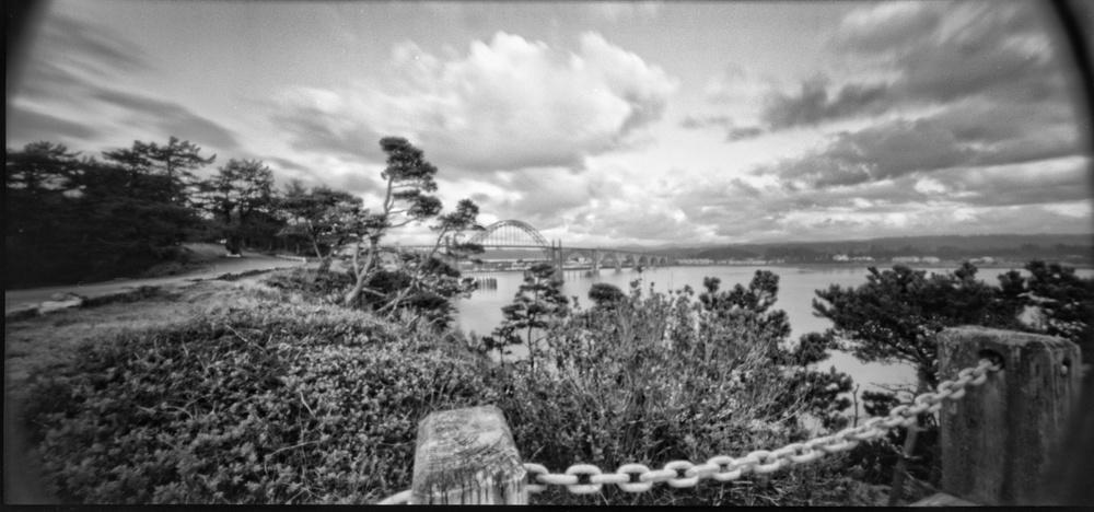 Yaquina Bay Overlook | Holga 120wpc Pinhole | HW Kateley