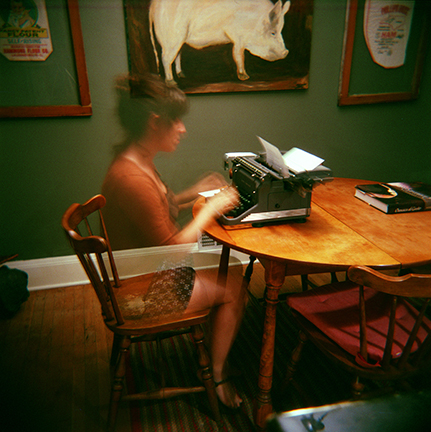 The Invisible Typer | Holga | Sarah Taft