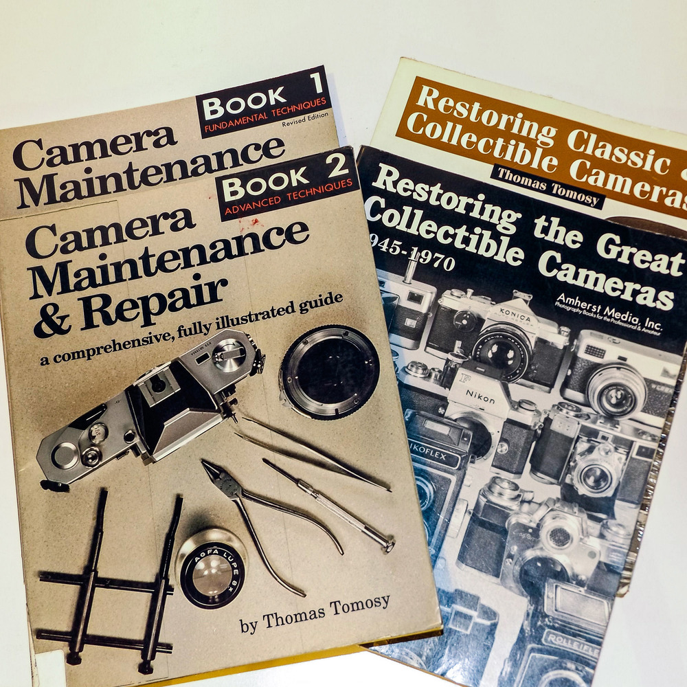Tomosy's Book 1 & 2 will get you started—his subsequent restoring books build on these and have many chapters specifically for particular classics. Other titles, including Nikon and Leica, are also available.