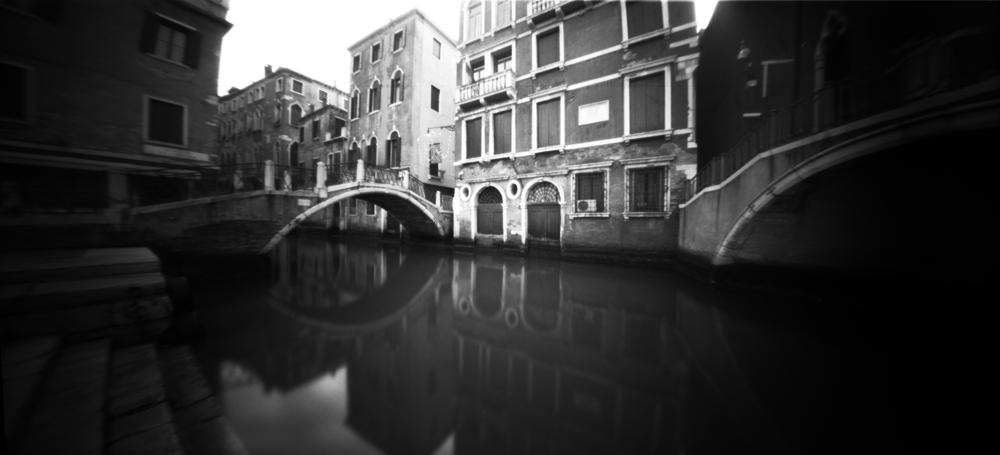 Ponte de la Cortesia - Venice, Italy - Ilford FP4+ in an 8banners pinhole camera
