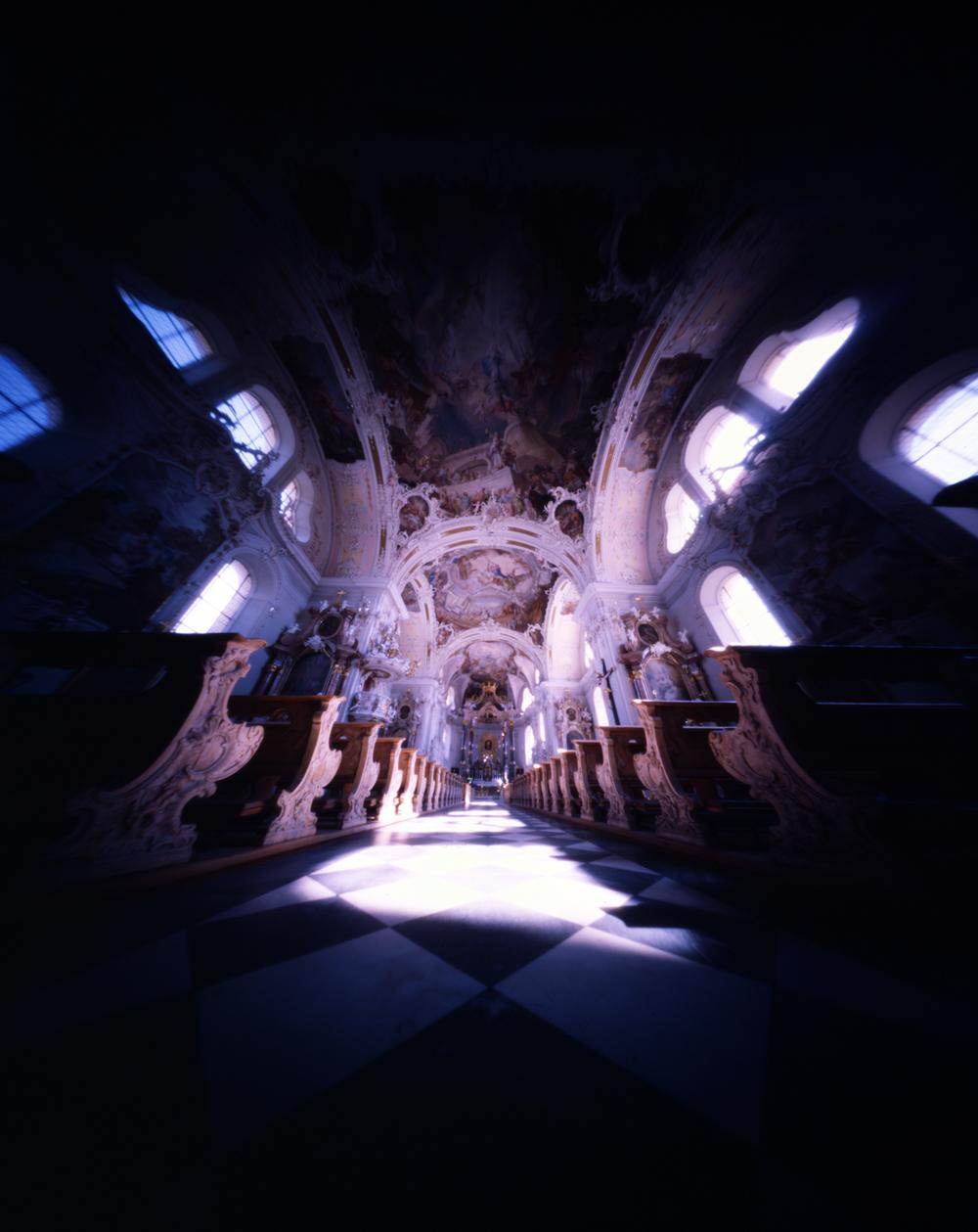 Basilika Wilten - Innsbruck, Austria - Kodak Ektachrome 100 ASA in a Zero Image 45 Pinhole camera