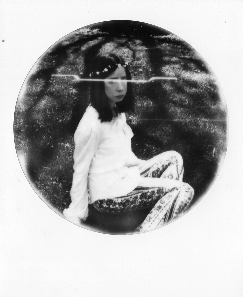 Abigail Crone | Recent Memory II | SX70 | Expired Impossible Project Black and White Round Frame