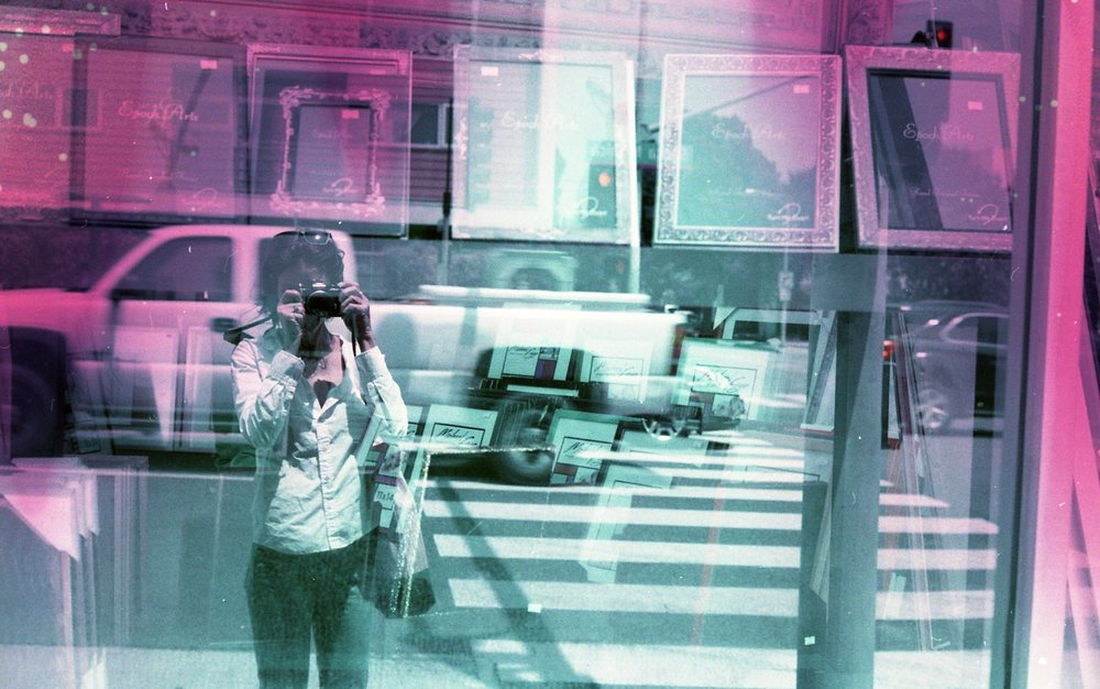 Barbara Murray | Self portrait | Nikon FE | Lomochrome purple gone wild