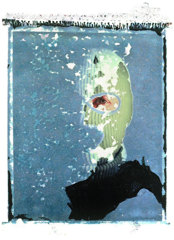masked man | sinar p2 | polaroid 59 polaroid transfer | steve lovegrove