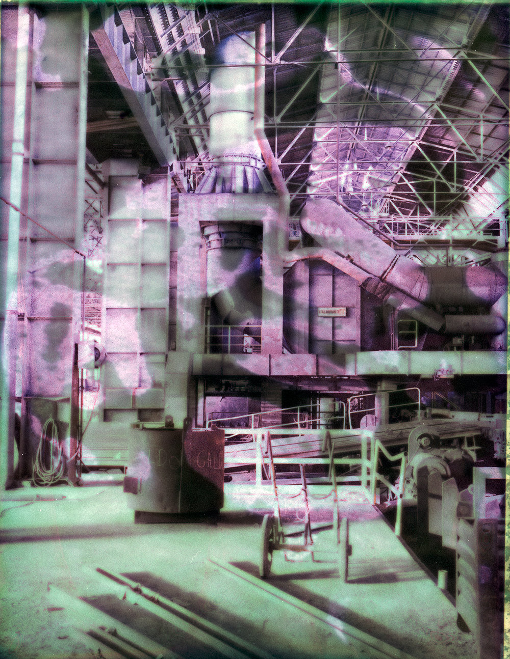 The Factory | Chamonix 4x5 | Fuji FP100C45 | Davide Maria Ferrari