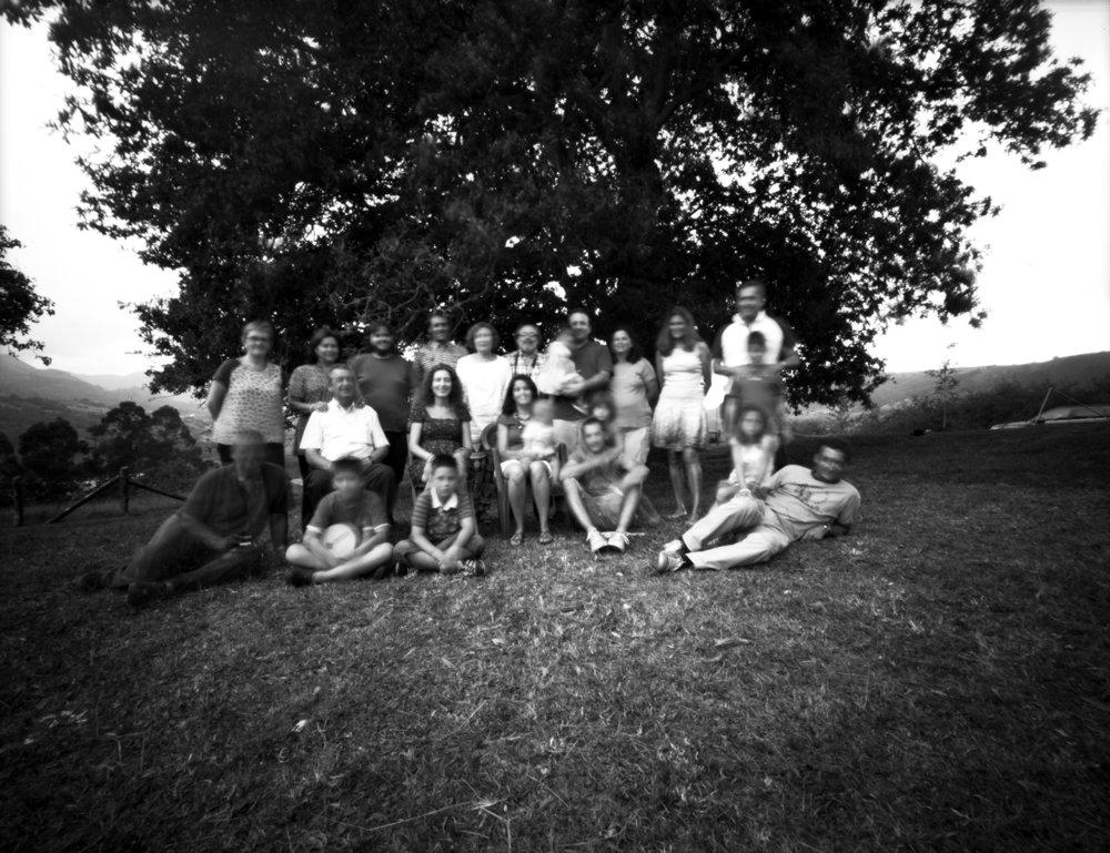 Family Reunion | 8x10 pinhole - Ilford FP4 | Jesús Joglar