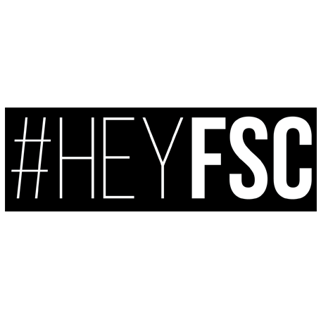 """#HEYFSC"" Vinyl Sticker .99¢"