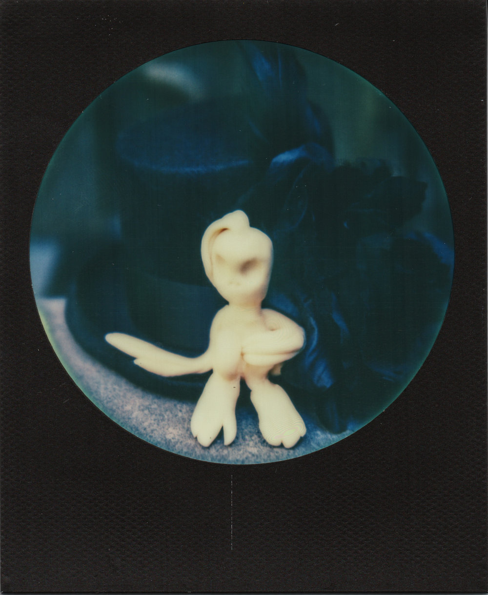 Alien Invasion | Polaroid sx70 | Impossible Round Black Frame | Karin Klaus