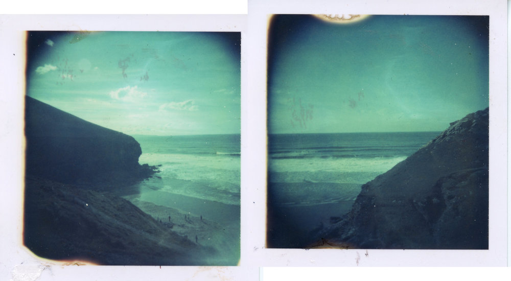 Chapel Porth | Holga | Polaroid Type 88 (Expired 2000) | Diptych | Matt Smith | @instant_surf
