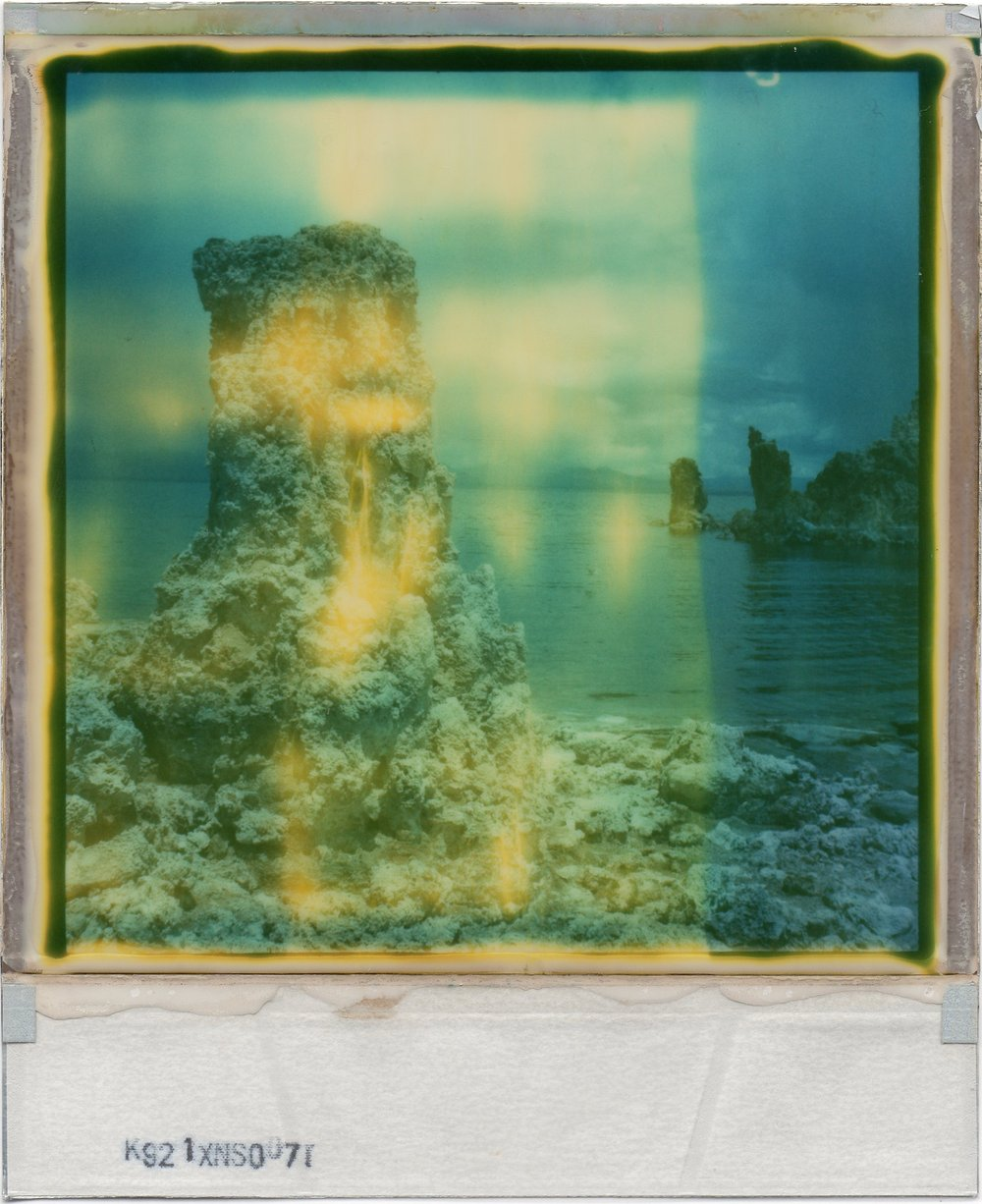 Mono Lake | Polaroid SX70 Sonar | Polaroid 70 (Expired) | Julia Beyer | @juliabeyer