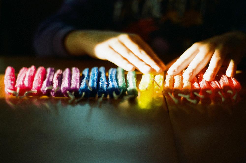 Candle Rainbow | F100 | Lomo 100 | Deborah Candeub