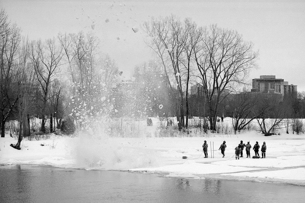 Dynamiting the River | NIkon FE2 | XP2 | Howard Sandler
