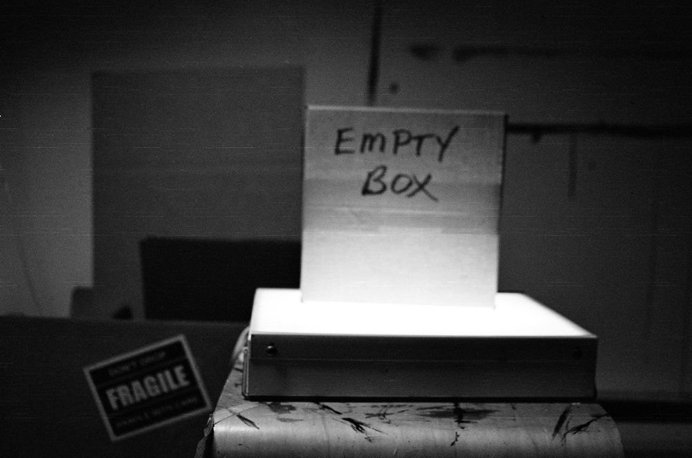Anda Marcu | Empty Box | NikonFM | Ilford XP2 Super