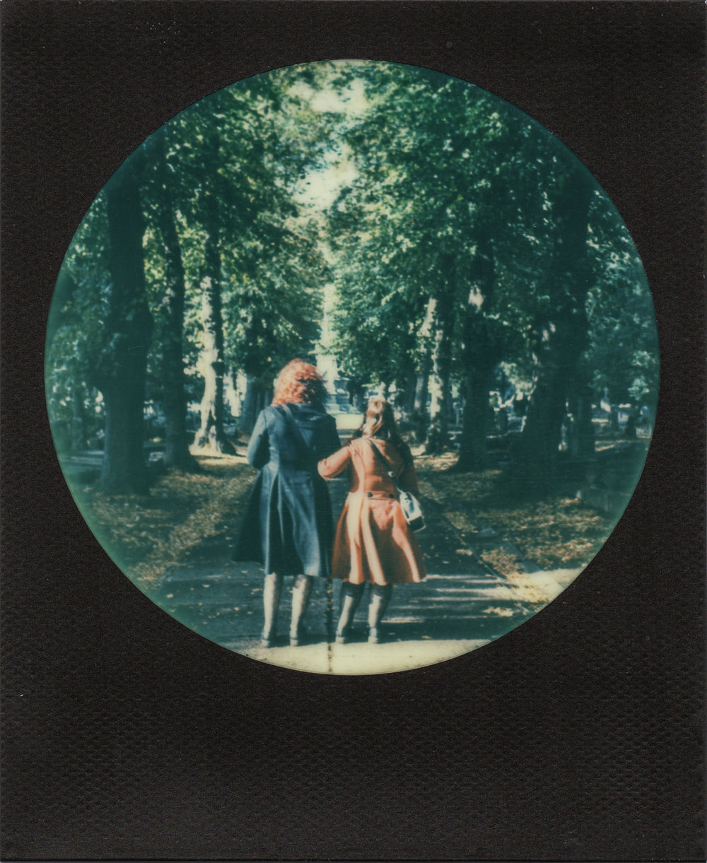 Romantic Walk in a Cemetary | Polaroid SX70 | Impossible Color | Karin Claus