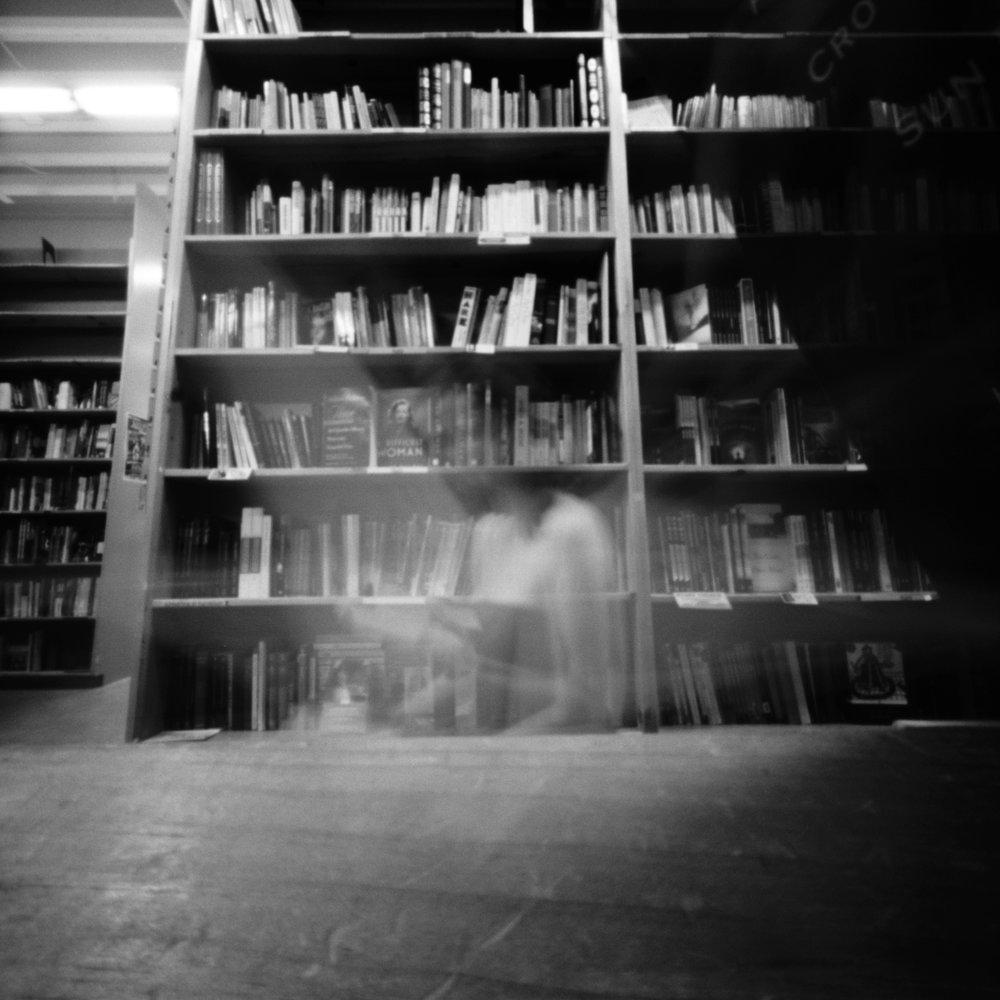 Powells Books Self Portrait | Zero Image Pinhole | TMax 100 | Katt Janson Merilo