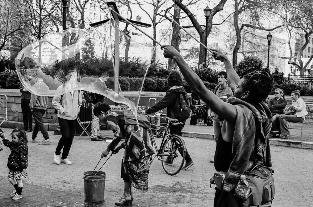bubbles On The Wind | Leica M6 | Summilux 50 1.4 | TriX 400 | Michael Fauscette