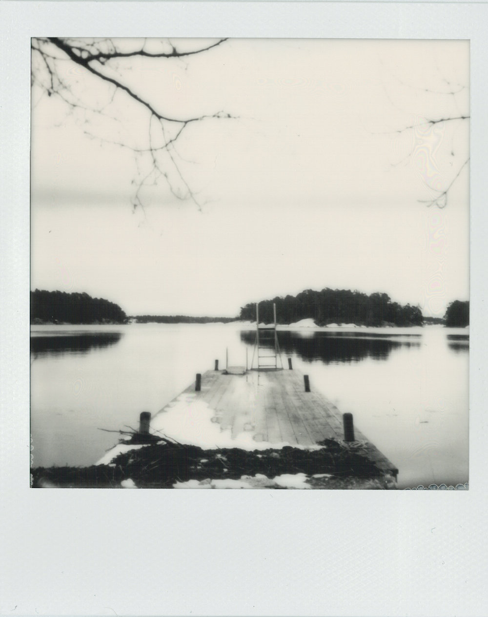 Pier | SX-70 | Impossible Project Black and White SX-70 film | Ioana Taut
