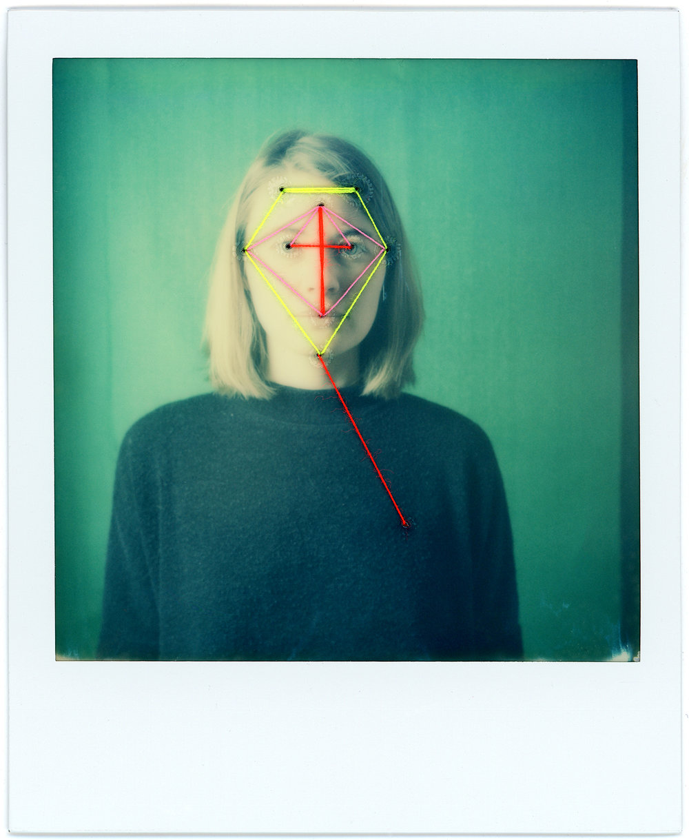 Anja's Mask | SX-70 Sonar Autofocus | Impossible Project 600 Gen3.0 | Urizen Freaza